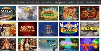 Mr Green jeux de casinos